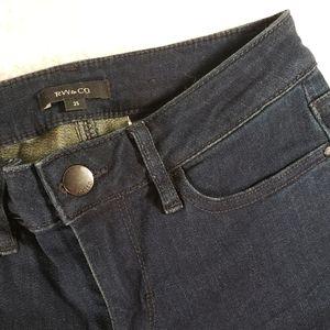 RW&CO Midrise Super Skinny Dark Wash Jeans sz 25